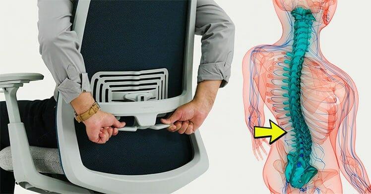 Adjustable lumbar support health benefit