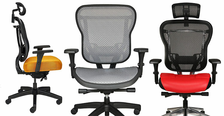Aloria Series chair upholstery options