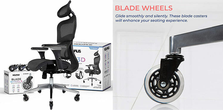 Nouhaus Ergo3D blade wheels