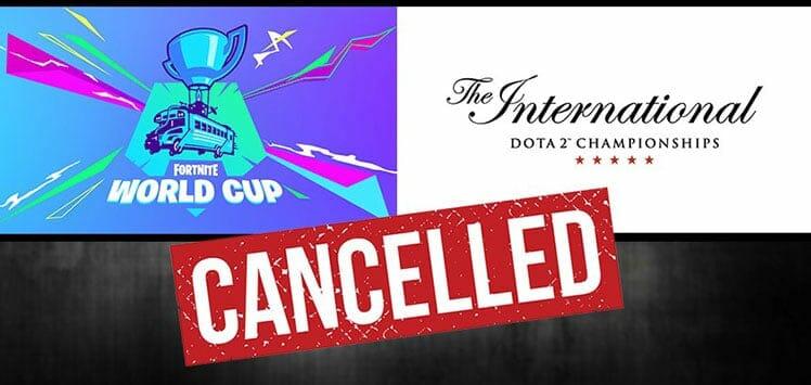 2020 esports event cancellations