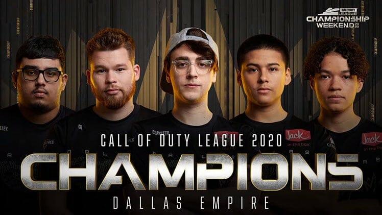 Dallas Empire esport club Call of Duty champions 2020