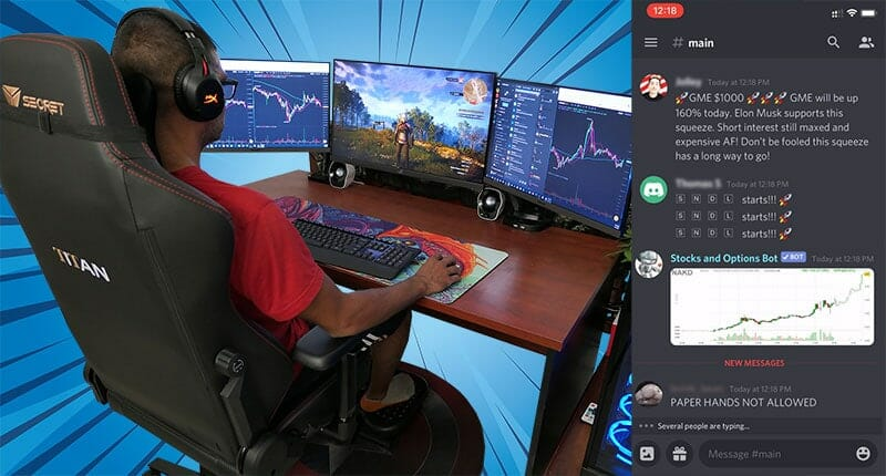 Trading crypto while gaming