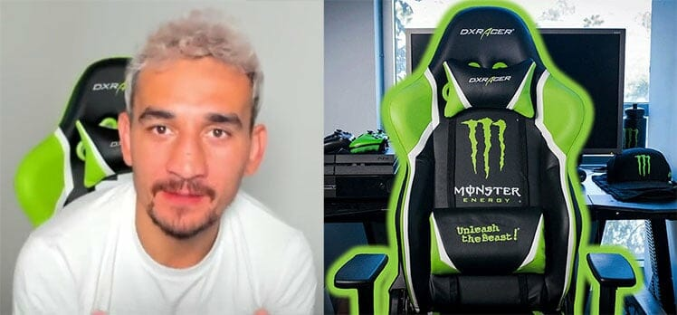 Max Holloway Monster Energy gaming chair
