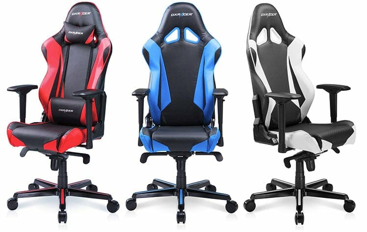DXRacer RV001 gaming chairs