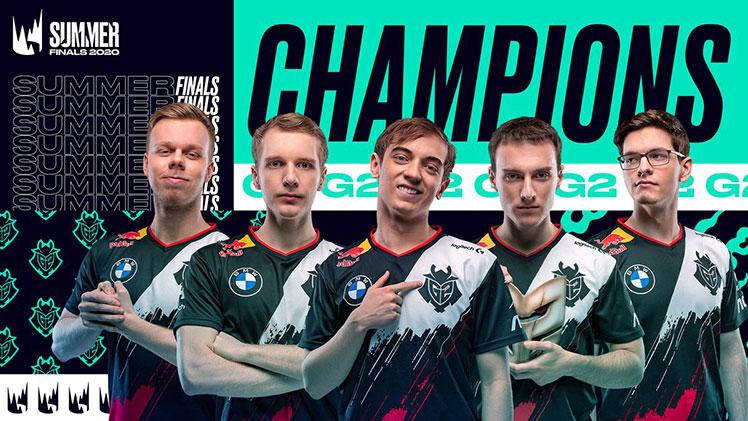 G2 Esports LEC Summer 2020 champions