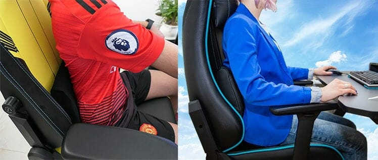 Gaming chair lumbar support pillows