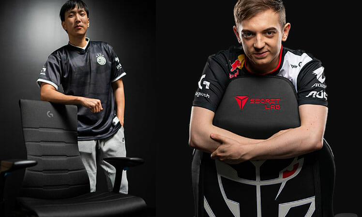 Gaming chairs used by the top-10 teams of 2020