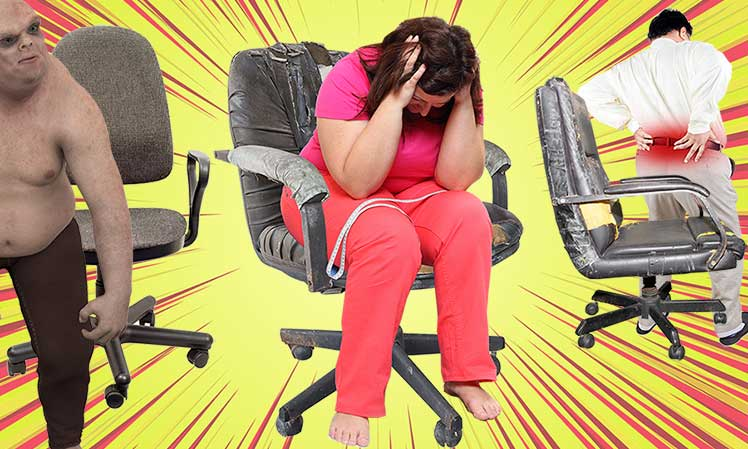 Why are traditional office chairs bad for your back?