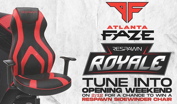 Atlanta FaZe Respawn Sidewinder chair