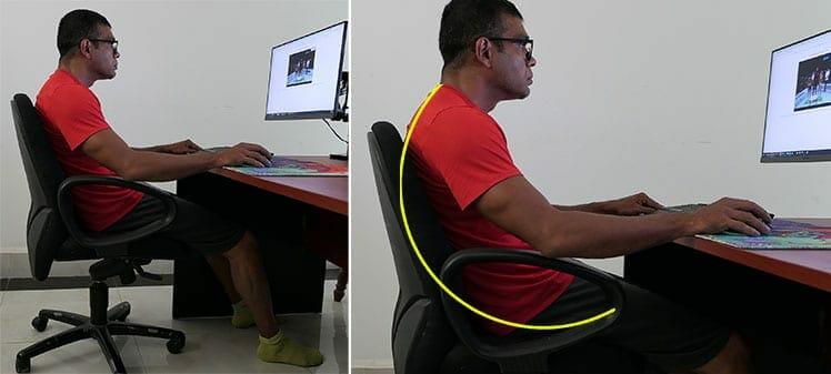 Lack of armrests causes poor posture