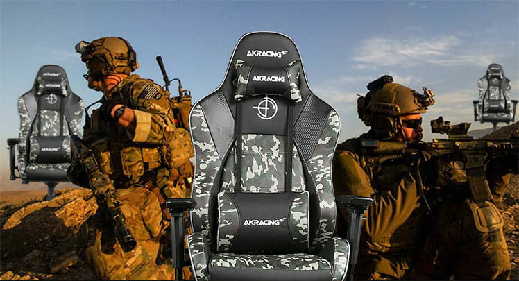 AKRacing multicam camouflage chair design