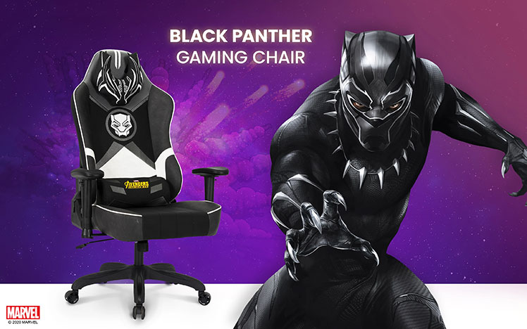 Black Panther superhero extra-wide gaming chair