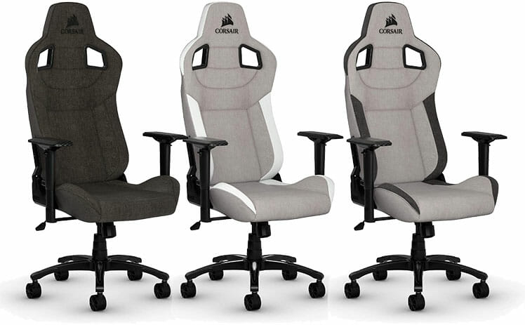 Corsair T3 Rush: best gaming chairs with executive fabric styling