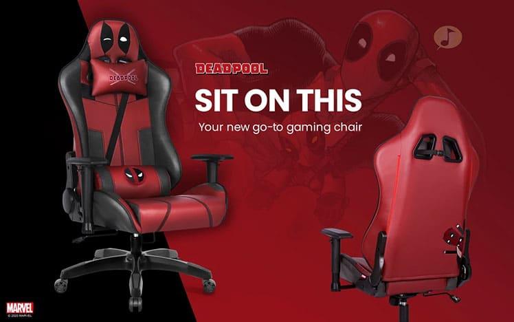 Deadpool superhero gaming chair