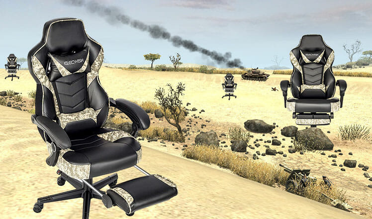 Elecwish camo chair in desert conditions