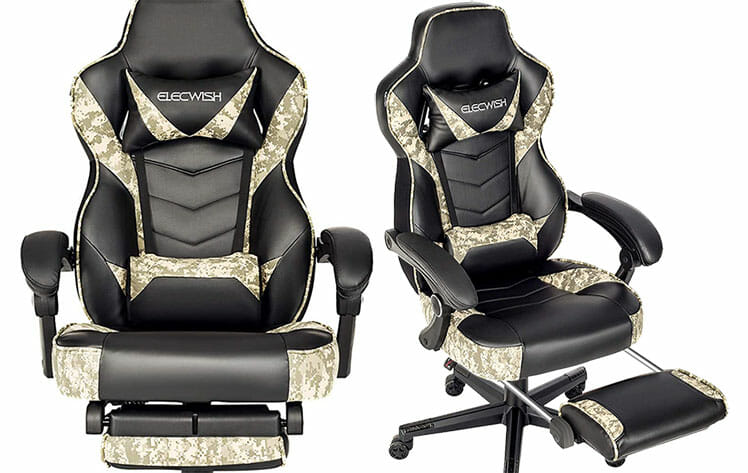 Elecwish camouflage gaming chairs