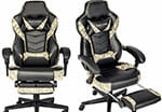 Elecwish camouflage footrest gaming chair