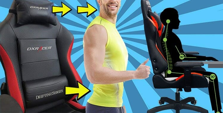 Neck and back support comes with all gaming chairs