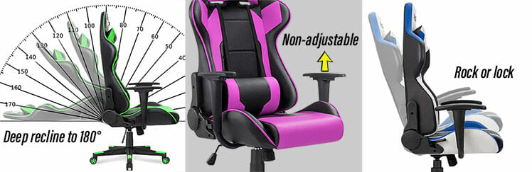 Ergonomic chair features