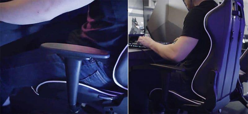 Non-adjustable armrests