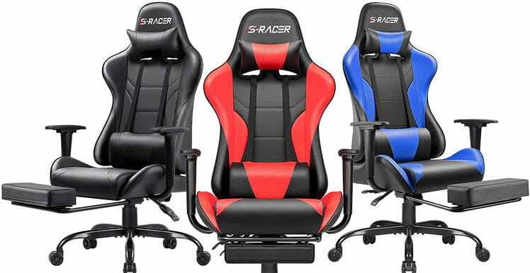 Gaming seat with footrest