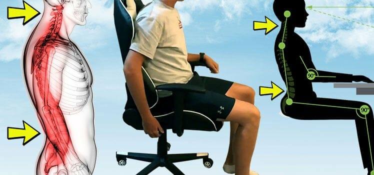 Ergonomic chair posture support