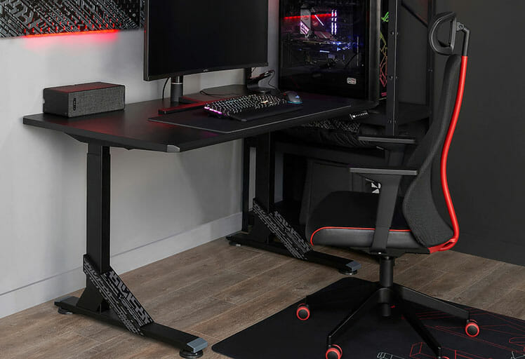 IKEA desk and gaming chair combo