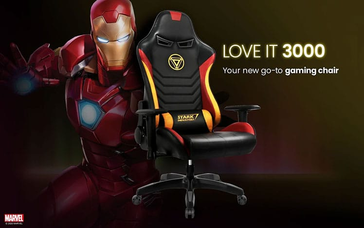 Official Iron Man Marvel gaming chair