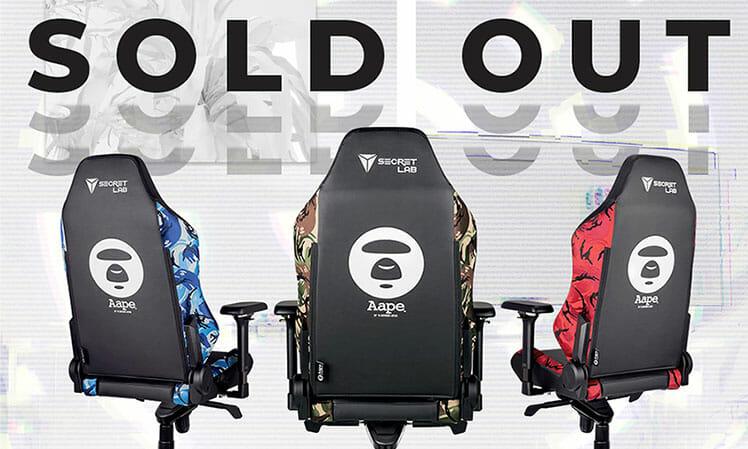 Secretlab Bathing AAPE camouflage gaming chairs