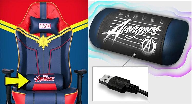 USB-powered lumbar pillow massage system