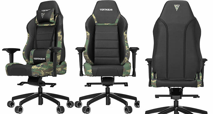 Vertagear Pl6000 camouflage gaming chair