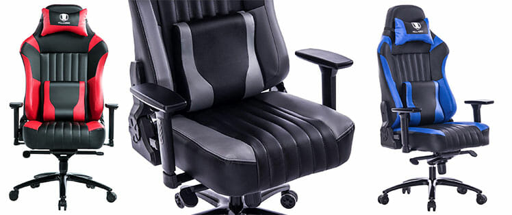 Killabee 8212 gaming chairs with wide seat