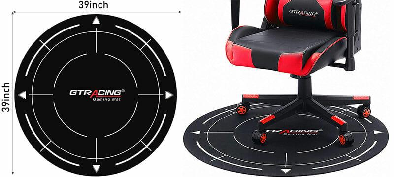 GTRacing black bullseye floor mat