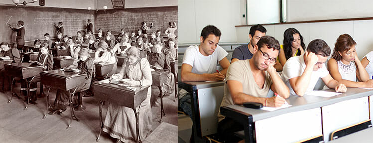 Classroom ergonomic standards in the past and present