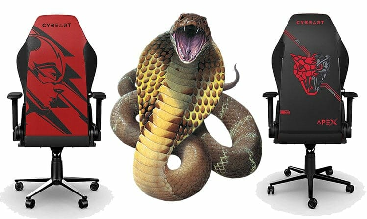 Cobra head gaming chair backrest design