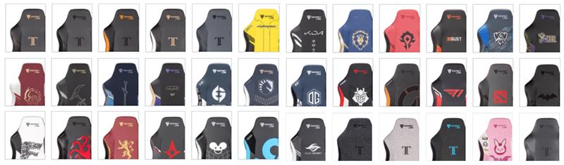 Secretlab chair design variations grid