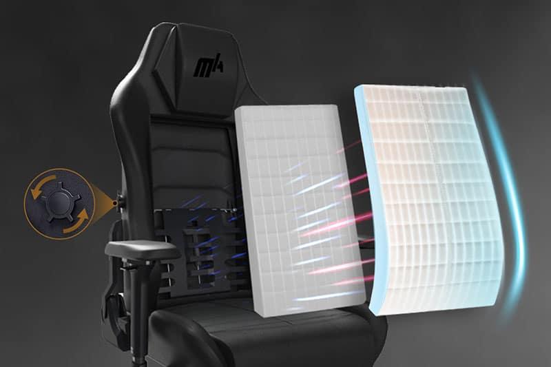 DXRacer Master internal lumbar support
