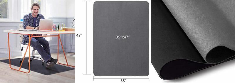 GTRacing plain office chair floor mats