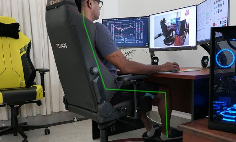5-minute video guide: healthy sitting tactics in a gaming chair