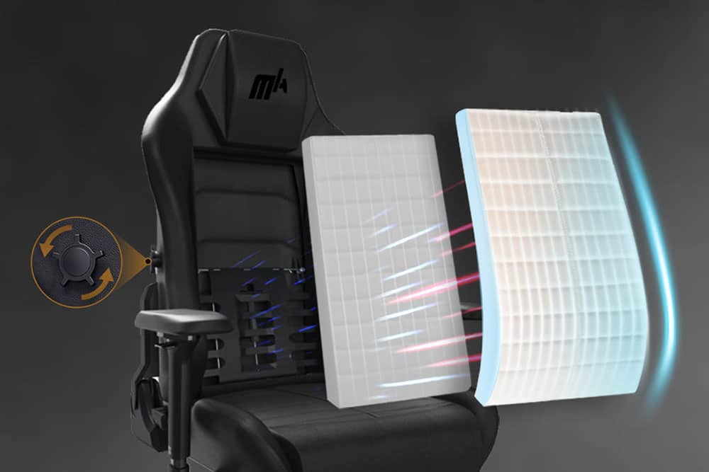 Master chair integrated lumbar support
