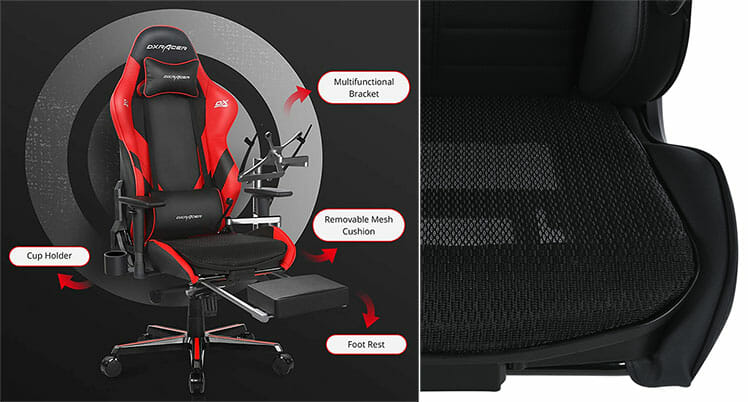 DXRacer modular system for gaming chairs add-on concept