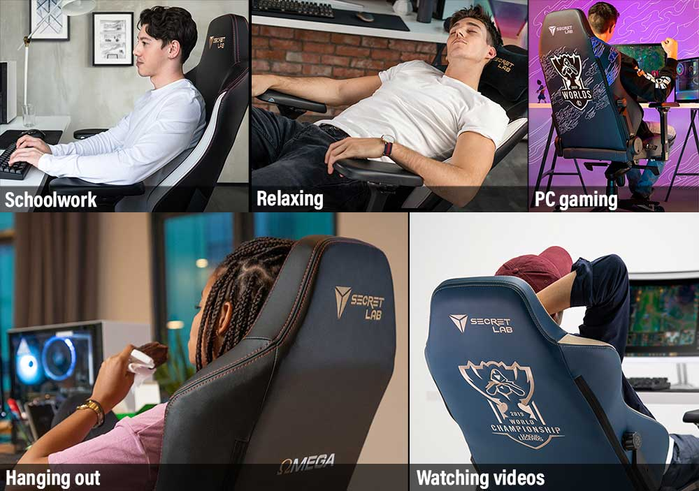 Versatile use for a racing style gaming chair