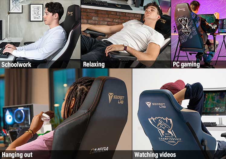 Versatile users for gaming chairs during study from home