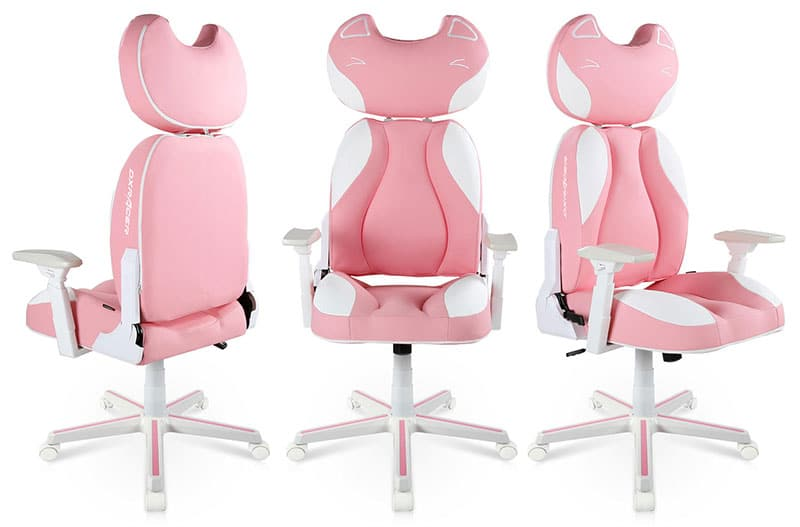 Pink kitty gaming chair