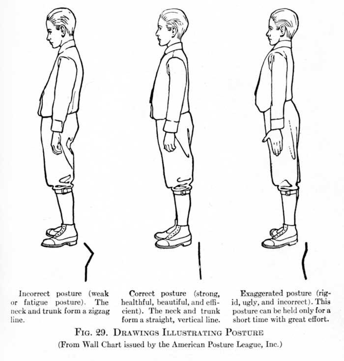 American Posture League wall chart