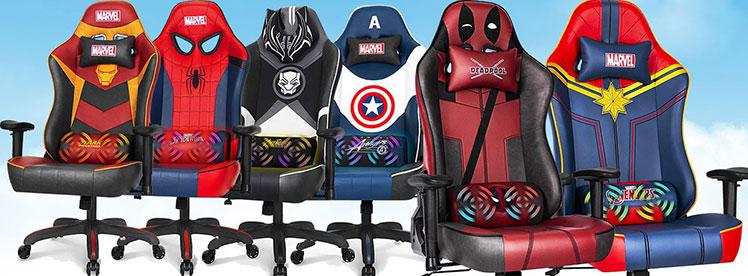 Marvel superhero gaming chairs
