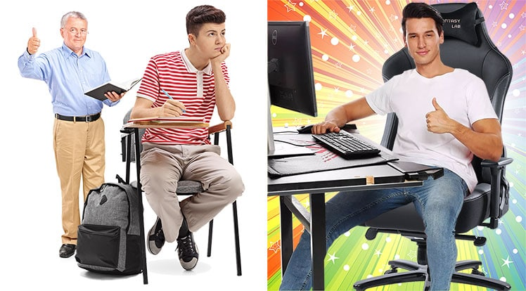 School chairs vs gaming chairs