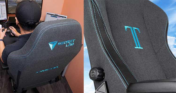Secretlab Charcoal Blue fabric gaming chairs