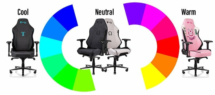Softweave fabric chairs on the color spectrum