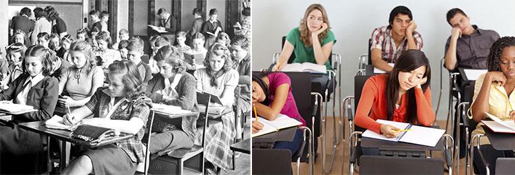 Cheap classroom furniture through the ages